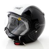 Jual Zeus Helm Half Face Zs 210K Grafik Hitam Putih Antik