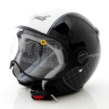 Diskon Produk Zeus Helm Half Face Zs 210K Grafik Hitam Putih