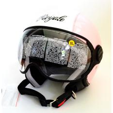 Zeus Helm Half Face Zs 210K Grafik Pink Dd49 Putih Diskon Akhir Tahun
