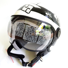 Spesifikasi Zeus Helm Half Face Zs 210K Grafik Putih Dd14 Hitam Yang Bagus Dan Murah