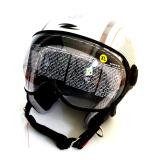 Zeus Helm Half Face Zs 210K Grafik Putih Dd46 Silver Tua Zeus Murah Di Indonesia