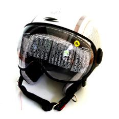 Harga Zeus Helm Half Face Zs 210K Grafik Putih Dd46 Silver Tua Zeus