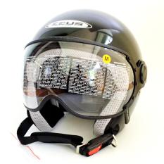 Toko Zeus Helm Half Face Zs 210K Polos Hitam Yang Bisa Kredit
