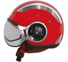 Beli Zeus Helm Half Face Zs 218 Merah Zeus Asli