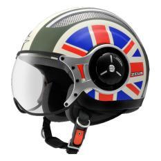 Jual Zeus Helm Half Face Zs 218 Retro Iron Head Grafik Hitam Dope Putih Ori