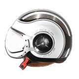 Harga Zeus Helm Half Face Zs 218 Retro Iron Head Grafik Hitam Ss6 Putih Terbaru