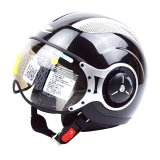 Zeus Helm Half Face Zs 218 Retro Iron Head Hitam Mutiara Indonesia Diskon 50
