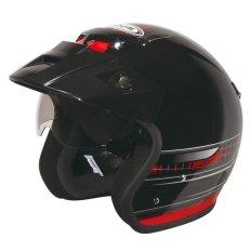 Zeus Helm ZS 381 C - Hitam-Merah