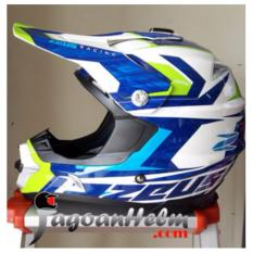 Iklan Zeus Helm Zs 951 Cross Trail Rr12 White Green Blue