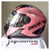 Zeus Helm Zs811 Al6 Fullface Smoke Visor Pink Black Zeus Diskon 50