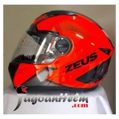 Beli Zeus Helm Zs811 Al6 Orange Fluo Zs 811 Fullface Smoke Visor Zeus Asli