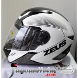 Spesifikasi Zeus Helm Zs811 Al6 White Black Black Smoke Visor Yang Bagus Dan Murah