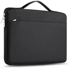 ZINZ 13-13.3 Inch Laptop Sleeve Case Cover untuk Macbook Air/Macbook Pro 2015/Retina/Permukaan Buku, Ultrabook Laptop Bag untuk 13 13.3 Lenovo Dell Toshiba HP ASUS Acer Chromebook-Hitam-Intl
