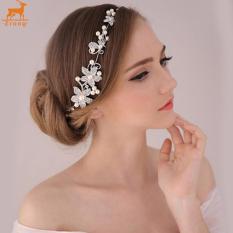 Harga Fashion Wanita Manik Manik Berlian Imitasi Zrong Bunga Hiasan Pesta Pernikahan Pengantin Potongan Rambut Bando International Tiongkok