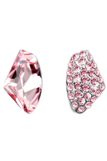 Jual Beli Zuncle Asimetris Crystal Diamond Segitiga Earrings Pink Di Tiongkok