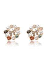 Jual Zuncle Bow Pearl Earrings Golden Zuncle
