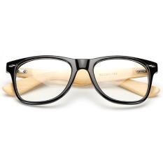 Zuncle Sarung Tangan Komputer Radiasi Perlindungan Bambu Earpiece Plastik Lensa Resin Bingkai Kacamata (Hitam)