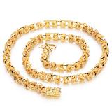 Review Terbaik Zuncle Boros Kepribadian 18 Karat Berlapis Emas Hadiah Perhiasan Pria Fashion Grand Kepala Naga Kalung Grosir Keemasan