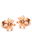 Jual Zuncle Korea Titanium Baja Mawar Emas Kecil Daisy Wanita Earrings Rose Gold Original