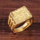 Harga Zuncle Pria 18 Karat Berlapis Emas Cincin Karakter Cina Keemasan Dan Spesifikasinya