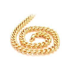 Review Terbaik Zuncle Pria Fashion Hadiah 18 K Emas Berlapis Fashion Jewelry Pendant Kalung Grosir Golden