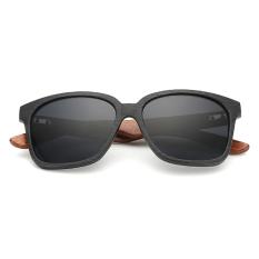 ZUNCLE Pria Kacamata Kaki Kayu Sunglasses Unisex Radiasi Perlindungan Sunglasses (Hitam)