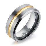 Beli Zuncle Laki Laki Retro Tukang Emas Tung Tungsten Cincin Emas Perak Ukuran As Yang Bagus