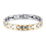 Spesifikasi Zuncle Mix Emas Pria Gelang Kesehatan Punk Perhiasan Emas Hitam Magnet Wristbands Internasional Terbaru