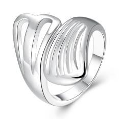 ZUNCLE Desain Berlapis Perak Jari Cincin untuk Lady (Emas)