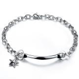 Toko Zuncle Pria Sederhana Berbentuk Hati Bintang Titanium Baja Gelang Perhiasan Grosir Perak Zuncle Di Tiongkok