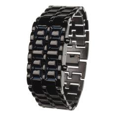 Tips Beli Zuncle Stylish 8 Led Blue Light Digit Stainless Steel Gelang Wrist Watch 1 X Cr2016 Hitam