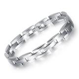 Zuncle Pelindung Titanium Stainless Steel Gelang Fashion Pria Korea Pacar Hadiah Ulang Tahun Perhiasan Grosir Perak Asli