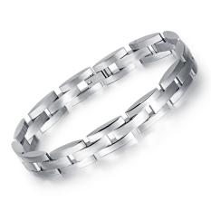 Toko Zuncle Pelindung Titanium Stainless Steel Gelang Fashion Pria Korea Pacar Hadiah Ulang Tahun Perhiasan Grosir Perak Online