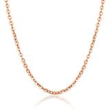 Review Toko Zuncle Unisex Fashion Berlapis Emas Titanium Steel Rose Gold O Kalung Kata Golden Online