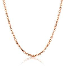 Beli Zuncle Unisex Fashion Berlapis Emas Titanium Steel Rose Gold O Kalung Kata Golden Seken