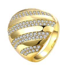 Zuncle Sarung Tangan 18 K Emas Berlapis Diamond Semi Lingkaran Cincin (Emas)-US Ukuran: 8