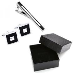 Zysta 3 Pcs Anti Karat Klasik Indah GQ Dasi Dasi Klip + Manset Set, groom Kemeja Bisnis Pernikahan Pria Perhiasan-Internasional