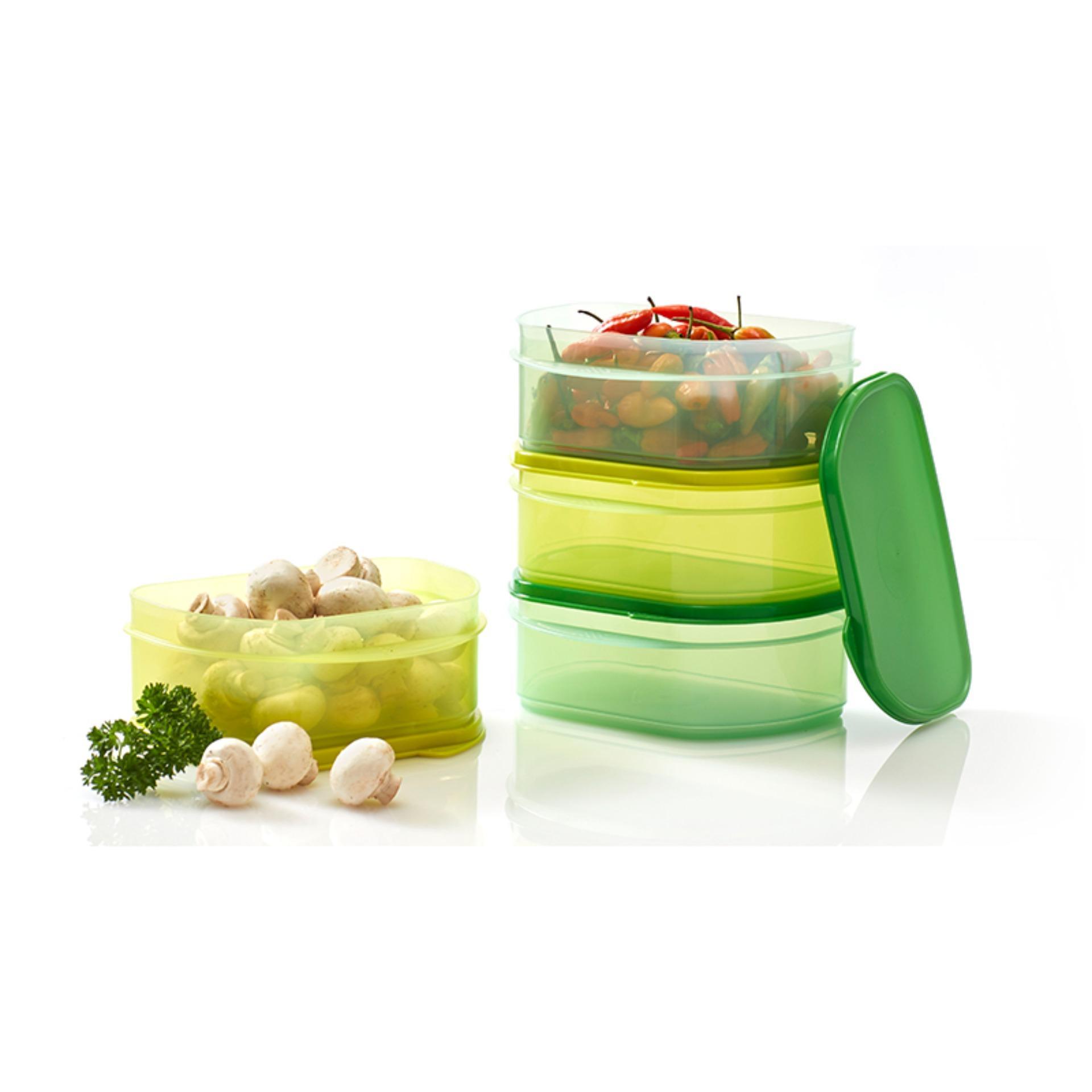 Tupperware Cool Stackable 4pcs Kotak Untuk Menyimpan Makanan