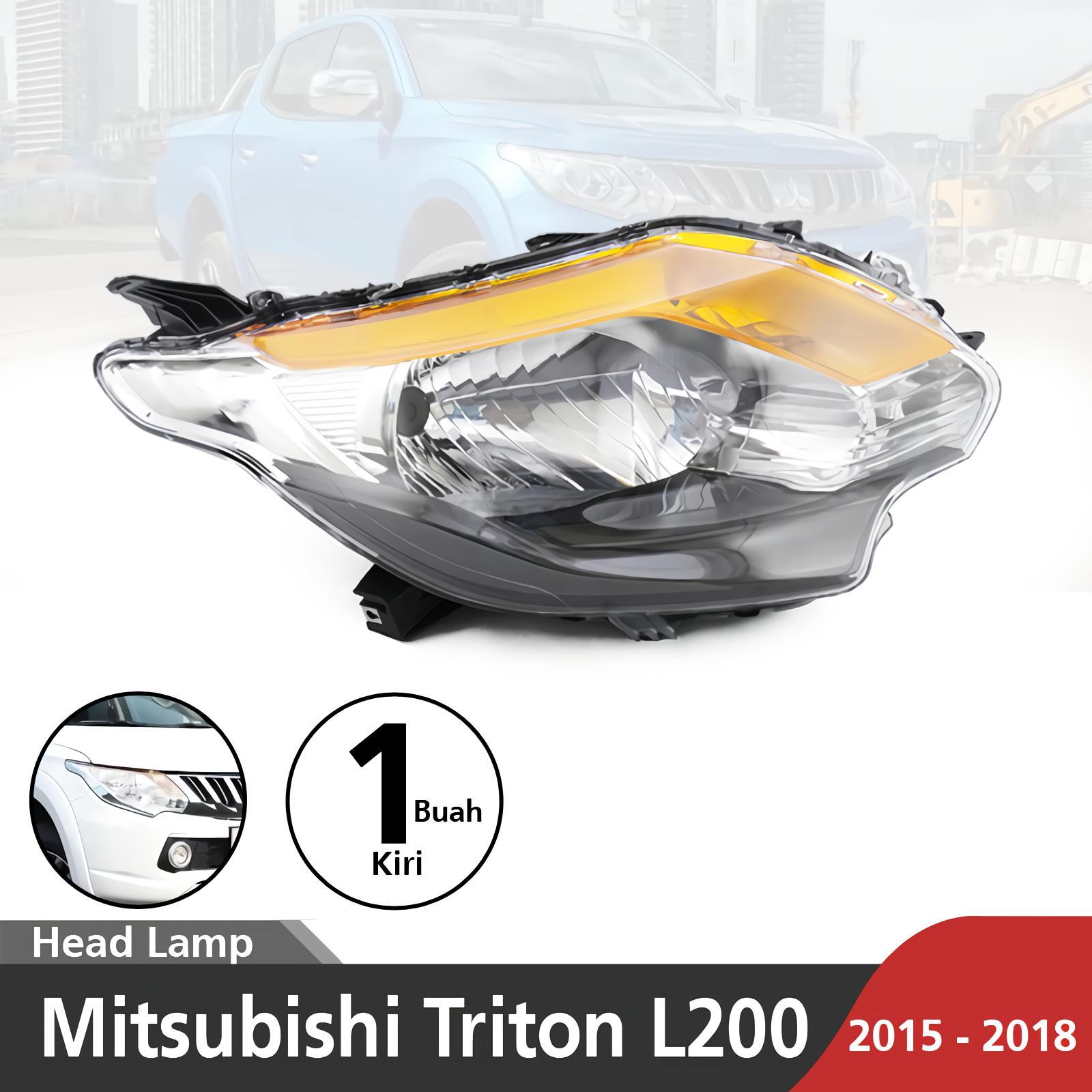 Lampu depan / Headlamp Halogen / Led Mitsubishi Triton L200 2015-2018 Front Headlight Triton Exceed SU-JL22-002-1-LH Kiri