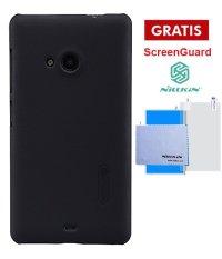 Nillkin Nokia Lumia 535 Super Frosted Shield - Hitam + Gratis Anti Gores Nillkin