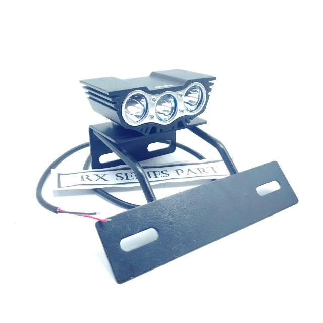 lampu depan OWL 3 mata RX KING LED rx king rx special rx k set breket besi bandung style