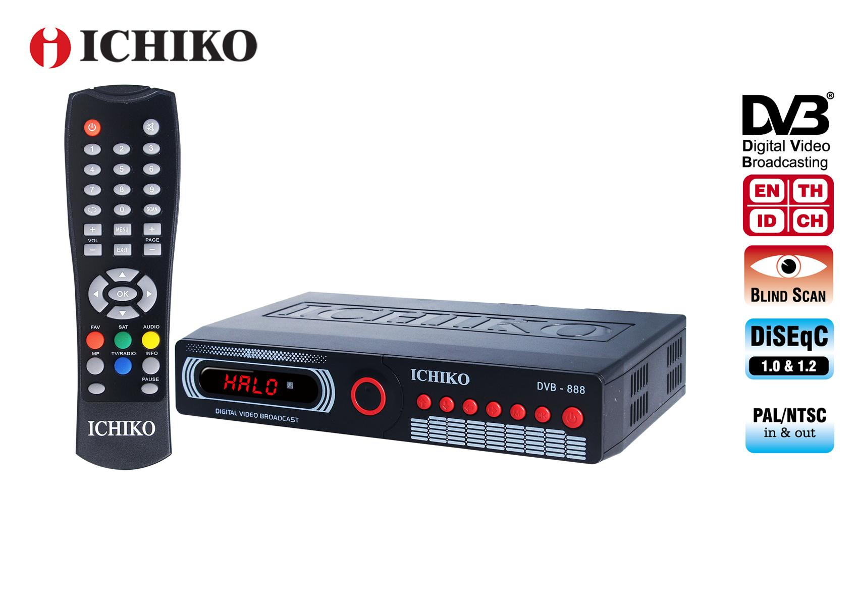 Ichiko Satellite Receiver Dvbs (model 888 C1) By Ichikostore.