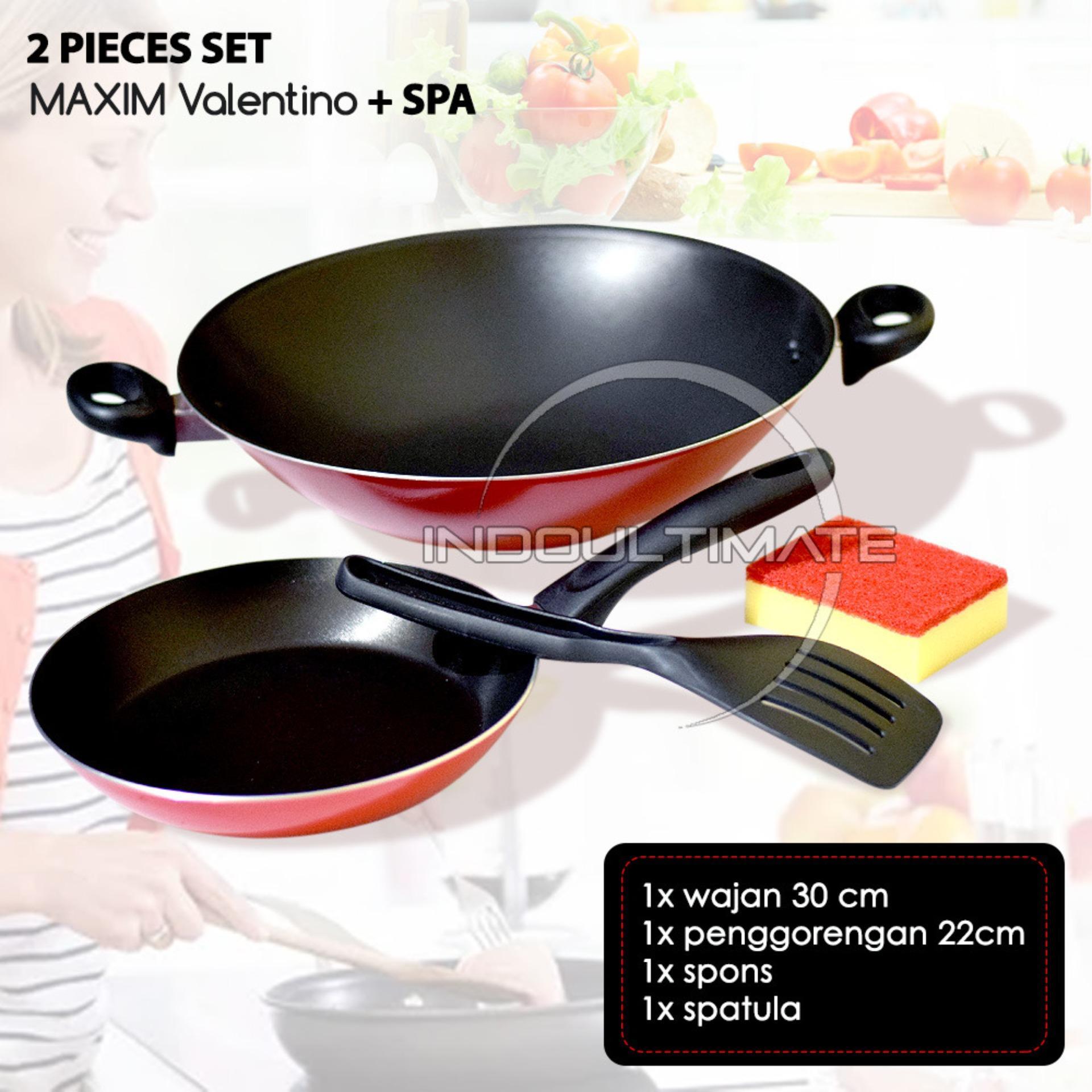 Teflon Maxim Anti Lengket 2 pcs set/Frypan 2 pcs set/Wajan 2 pcs