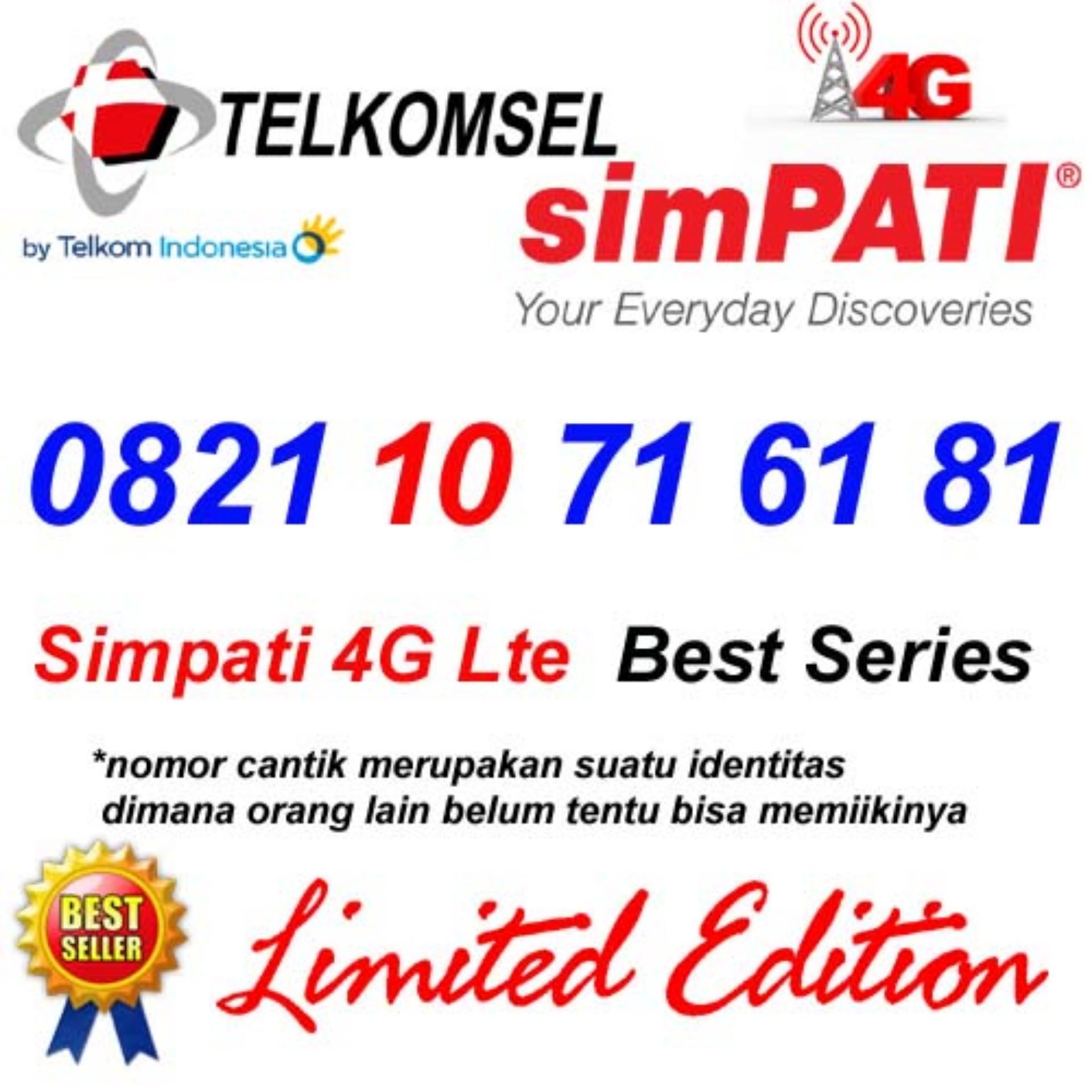 Telkomsel Simpati 4G Lte 0821 10 71 61 81 Kartu Perdana Nomor Cantik super