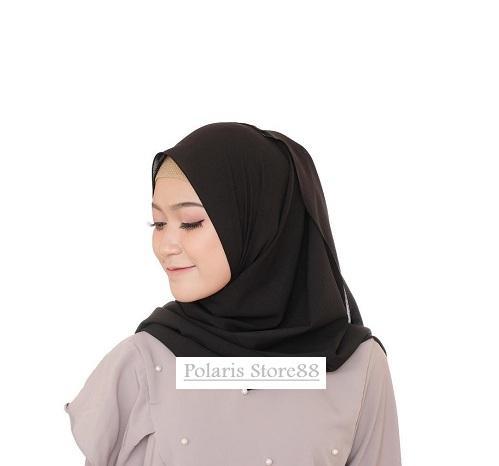 POLARIS - Hijab Polos Pashmina Diamond Crepe / Sabyan Ukuran 175cm x 75cm / Jilbab Premium / Kerudung / Scarf Wanita / Busana Muslim / Aksesoris Hijab