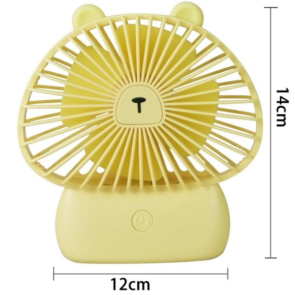 Usb Desk Fan, Mini Personal Fan Battery Powered, 3 Speed Small Fan For Desk Table Home Office,Gift Idea For Kids Girls Woman.