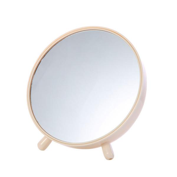 Bedroom Desktop Storage Box Mirror Makeup Nail Art Beauty Vanity Mirror Creative Mirror, Beige giá rẻ