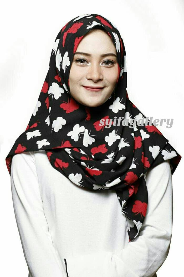 PROMO Pashmina /Hijab / Jilbab Instan Mecca 3 (Bubble Motif) TERBARU