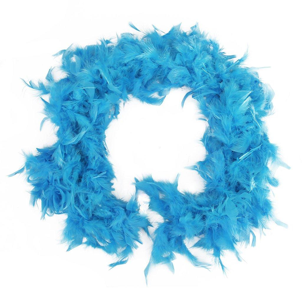 2m Feather Boas Fluffy Craft Costume Dressup Wedding Party Home Decor (light Blue) By Ertic.