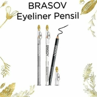 BRASOV Pensil Eyeliner Dengan Serutan Eye Liner Pencil Kosmetik Make Up Mata thumbnail